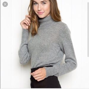 Brandy Melville gray knit turtleneck